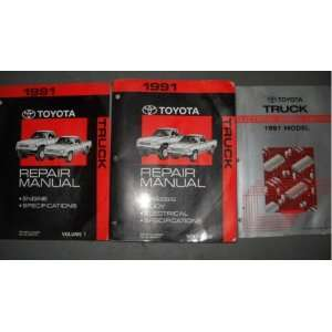 1991 Toyota Truck Service Repair Shop Manual Set OEM 91 (2