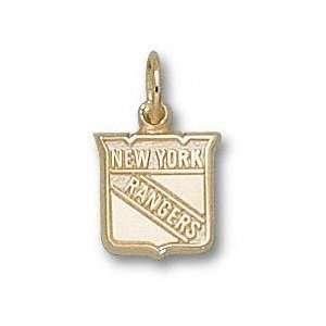 New York Rangers 14K Gold Shield Logo 3/8 Pendant