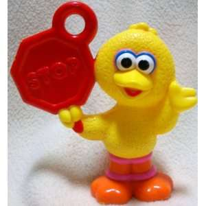 Sesame Street Elmo, Big Bird Holding a Stop Sign Figure Doll Toy: Toys
