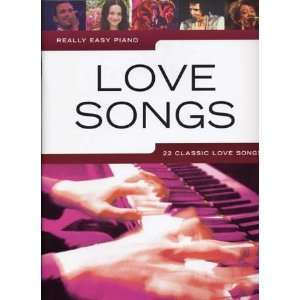 really easy piano love songs ; piano, chant