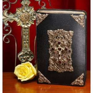 Decorated Cross Bible with Ruby Crystals (KJV): Everything