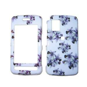 PURPLE FLOWERS snap on hard case faceplate for LG Cu920 Vu (many other