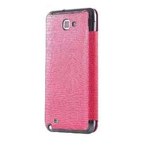 Anymode Leather Flip Case Cover for Samsung Galaxy Note SGH I717 (Pink