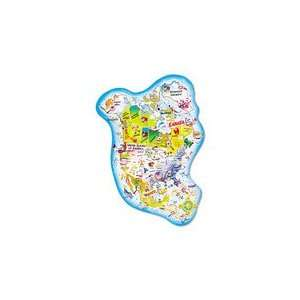 com ChenilleKraft Giant North America Map Floor Puzzle Toys & Games
