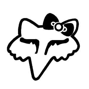 Fox Girl 12 Inch High Quality Truck or Car Vinyl Decal