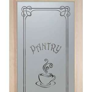 Pantry Doors 2/0 x 6/8 1 Lite French Etched Glass Door Frosted