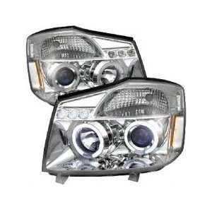 07 Nissan Titan/Armada LED Projector Head Lights  Chrome Automotive