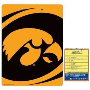 NCAA Iowa Hawkeyes Team Logo Clipboard: Sports & Outdoors