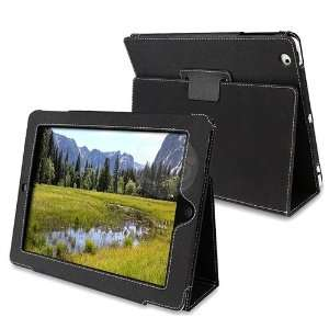 For iPad 2 Magnetic Leather Smart Cover Case Black