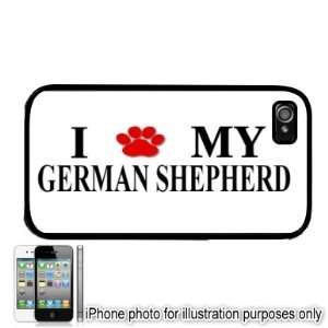 Paw Love Dog Apple iPhone 4 4S Case Cover Black