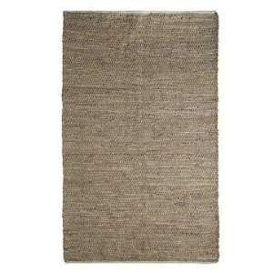 west elm Jute Leather Rug, 5x8 Natural
