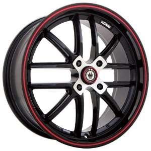 16x7 Konig Again4 (Gloss Black w/ Red Stripe) Wheels/Rims