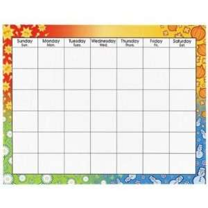 , inc Trend Large Wipe Off Blank Calendar Chart: Office Products
