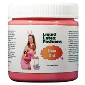 Ammonia Free Liquid Latex Body Paint   4oz Neon Red Beauty