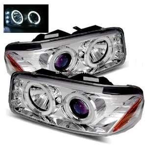 06 GMC Yukon Denali Halo LED Projector Headlights   Chrome Automotive