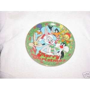 Warner Bros Looney Tunes 1991 Christmas Plate