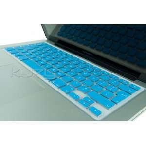 EU/UK AQUA BLUE Keyboard Silicone Cover Skin for Macbook / Macbook