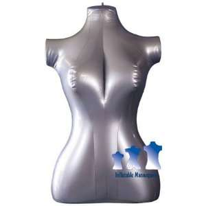 Inflatable Mannequin, Female Torso, Mid Size Silver Arts