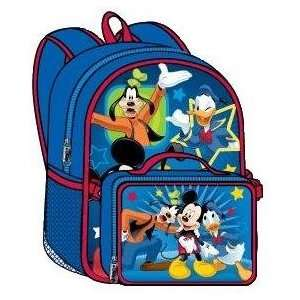 Walt Disney Mickey Mouse Large Backpack with Detachable Lunch Bag