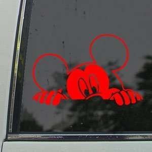 MICKEY MOUSE Red Decal Car Truck Bumper Window Red Sticker