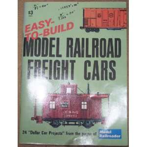 East to Build Model Railroad Freight Cars Various Books