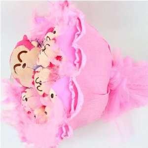 Forever Love Flower Bouquet of Dolls, 10+1 Monkeys Toys & Games