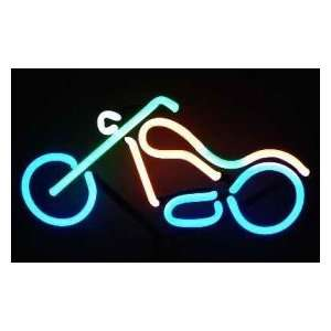 Chopper Motorcycle Neon Sign & Light