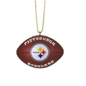 Pack of 4 NFL Pittsburgh Steelers Football Christmas