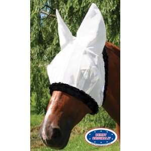 Derby Originals Heavy Duty Nylon Full Horse Fly Mask with Ears White