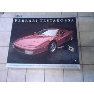 K51 Ferrari Testarossa 1/8 Scale Red Metal Vintage Car Model Kit