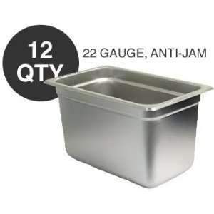 12 FOURTH SIZE 6D ANTI JAM STEAM TABLE PAN   NSF Kitchen