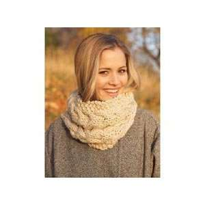 Free Knitting Pattern L0187AD Cabled Pullover And Cowl