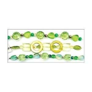 Jesse James Potpourri Acrylic Beads 7.5 Strand/Pkg Lime