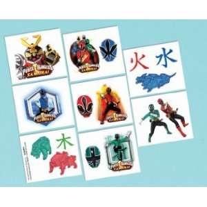 Power Rangers Samurai Birthday Party Favors Temporary Tattoos 16ct