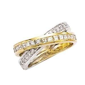 Diamonds 2 carats G VS2 diamonds ring princess cut gold