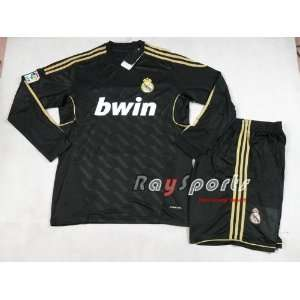 new black real madrid 11 12 away long sleeve shirts 2011 2012 soccer