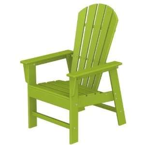 : Poly wood Recycled Plastic Wood South Beach Adirondack Dining Chair