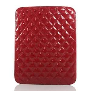 ZuGadgets Red / Plaid Leather Case / Cover / Sleeves for