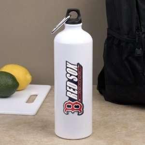 Boston Red Sox White Aluminum Water Bottle Sports