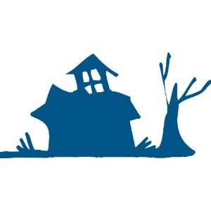 Halloween Series Scary House Removable Wall Sticker