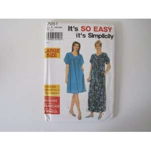 Simplicity Pattern 7951 Womens Dress Sizes 18W 26W Simplicity