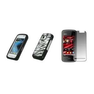 Black and White Zebra Stripes Design Soft Silicone Gel Skin Cover Case