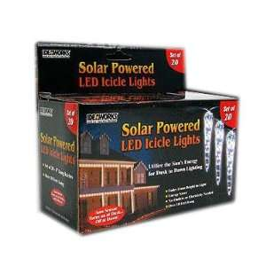 SOLAR POWERED LED ICICLE LIGHTS (SET OF 20)
