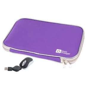 DURAGADGET Purple 14 Neoprene Laptop Zip Case With USB Mini