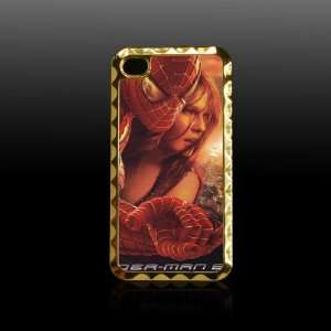 Spider Man Printing Golden Case Cover for Iphone 4 4s Iphone4 Fits At