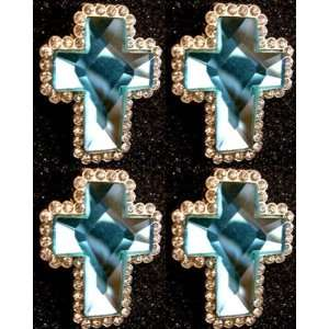 4 BLUE CROSS SWAROVSKI CRYSTALS BERRY CONCHOS Everything