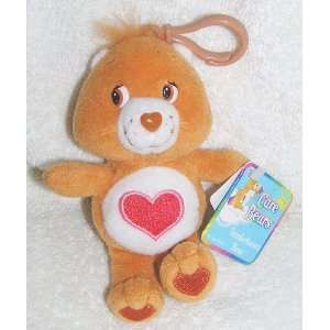 2002 Care Bears 5 Plush Tenderheart Bear Clip On Doll