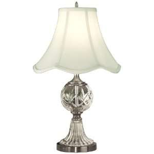 com Dale Tiffany GT10356 Crystal Table Lamp, Pewter and Fabric Shade