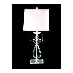 Dale Tiffany GT70040 Duomo Table Lamp, Brushed Nickel and Fabric Shade