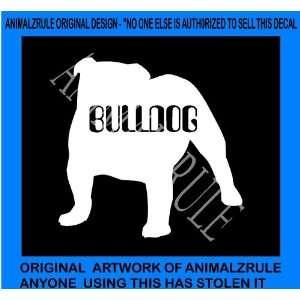 BULLDOG DOG VINYL DECAL